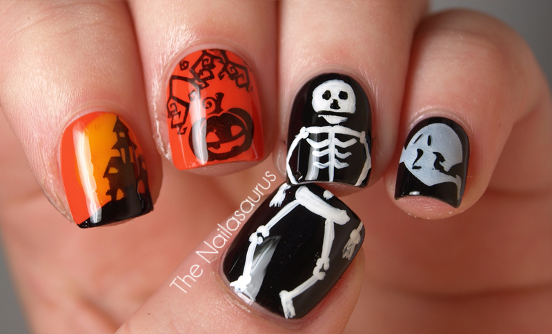 Halloween Nail Art! - The Nailasaurus | UK Nail Art Blog