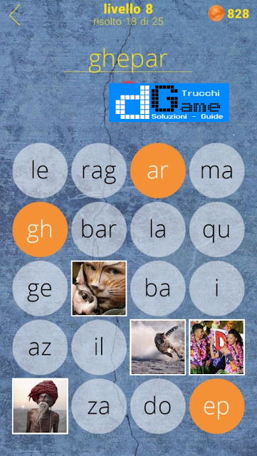 650 Parole soluzione livello 8 (1 - 25) | Parola e foto