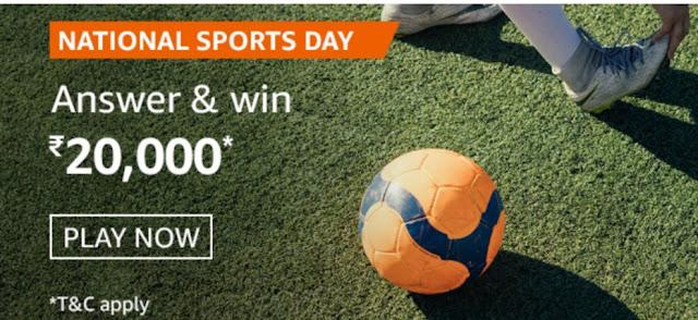 Amazon National Sports Day Quiz Answers