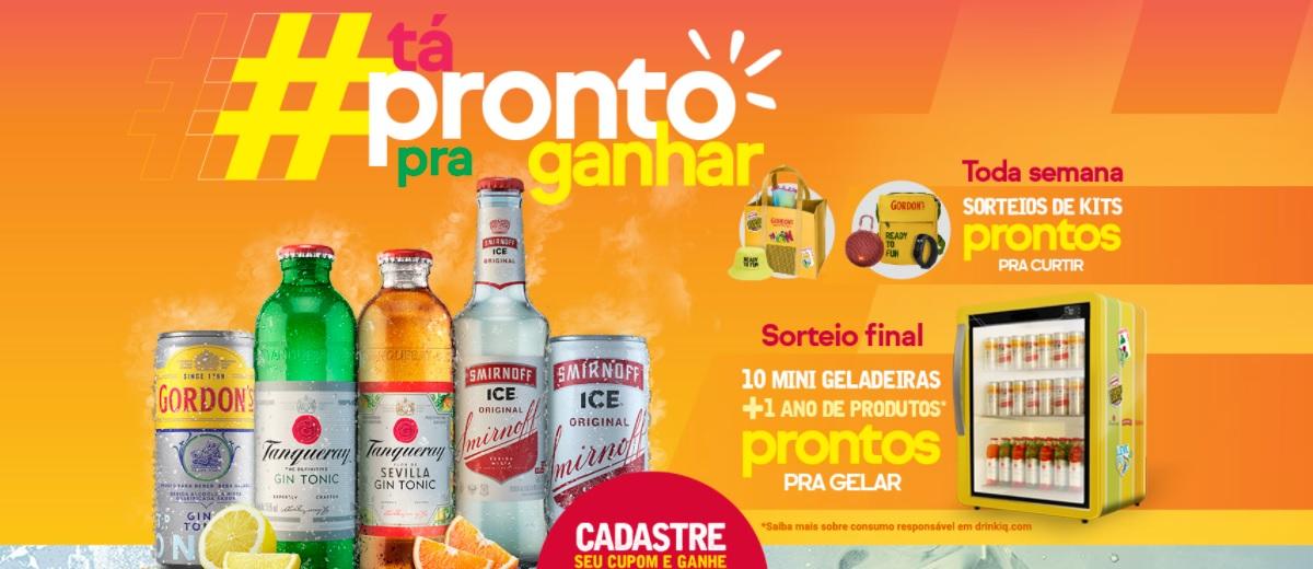 Tá Pronto Pra Ganhar Promoção Diageo Bebidas 2021