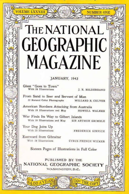 National Geographic January 1943