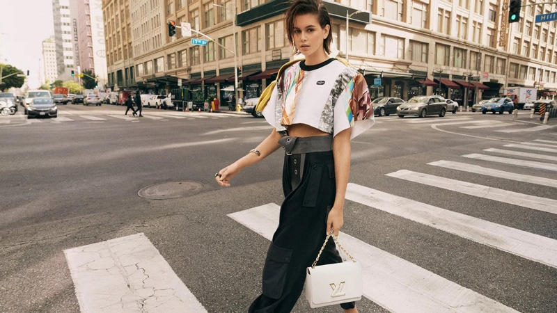 Kaia Gerber stars in the Louis Vuitton 'Twist' Campaign