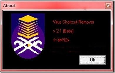 virus shortcut remover v2.1beta