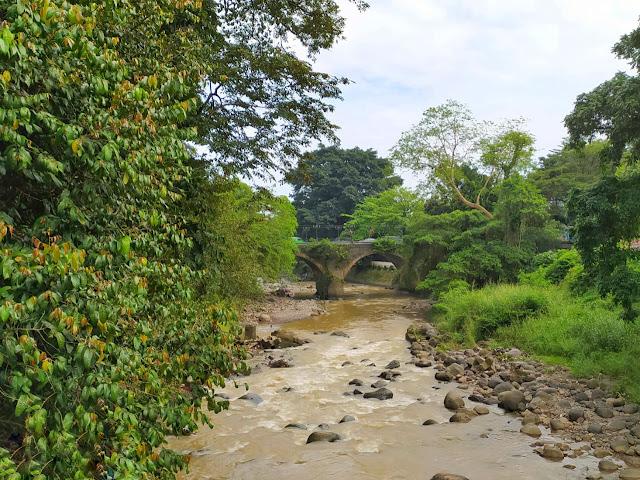 Sungai di Kebun Raya Bogor