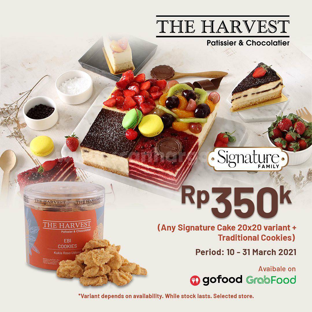 Promo THE HARVEST Bundling Signature Cake + Traditional Cookies cuma Rp 350.000