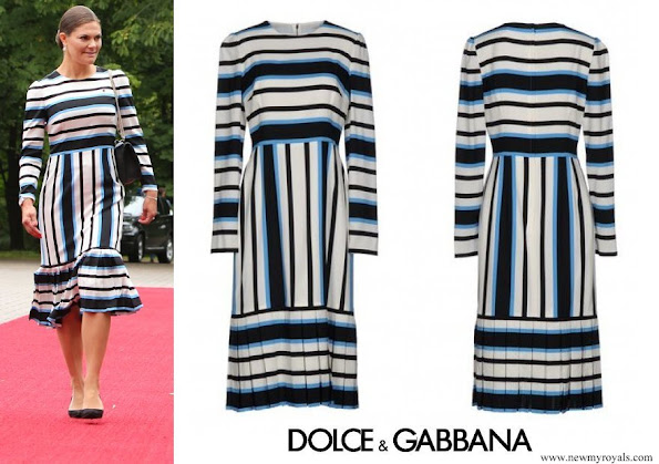 Crown Princess Victoria wore Dolce and Gabbana 3-4 length dress