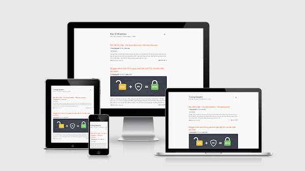 [BSW-05] Personal Simple Blogging - Responsive Template for Blogspot