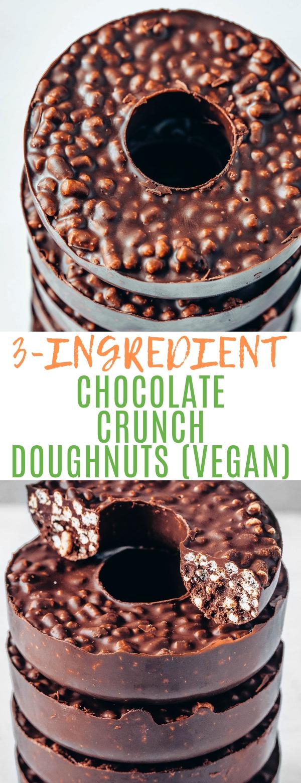 3-INGREDIENT CHOCOLATE CRUNCH DOUGHNUTS (VEGAN) #chocolate #vegan