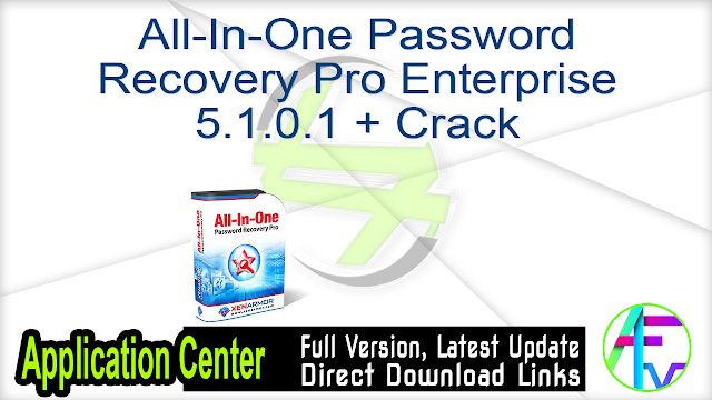 All-In-One Password Recovery Pro Enterprise 5.1.0.1 + Crack