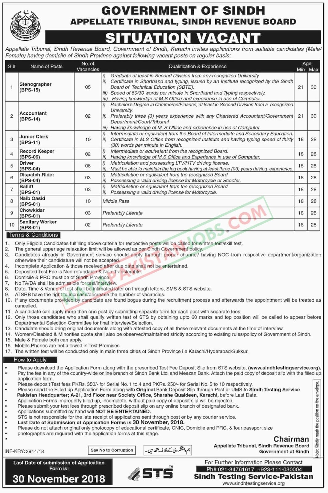 Latest Vacancies Announced in Sindh Revenue Board Karachi 12 November 2018 - Naya Pakistan