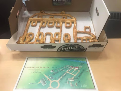 Pennsbury Manor house made from Philly soft pretzel dough
