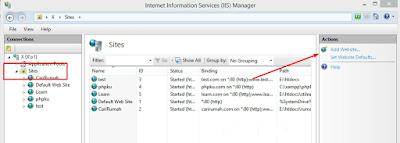 Menambahkan Virtual Website di IIS