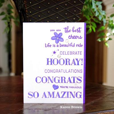 Celebrate and Congratulations Card.
