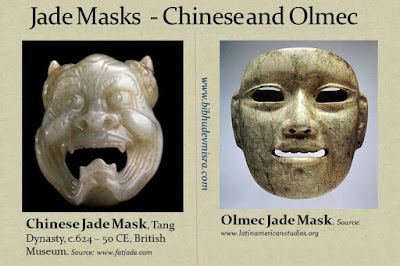 The Olmecs and the Chinese made jade masks