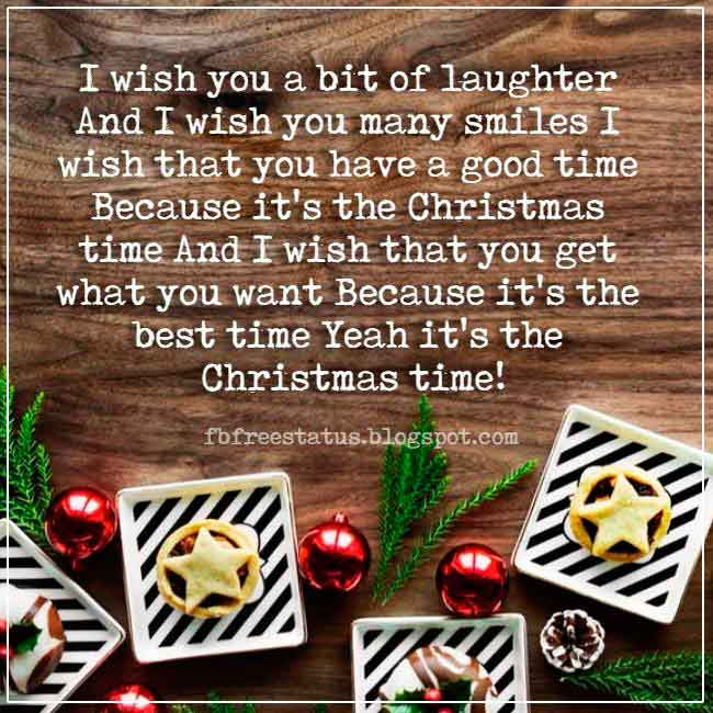 Christmas saying for cards and messages