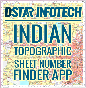 Topo Graphical Sheets and Map Number Finder application - Dstar Infotech