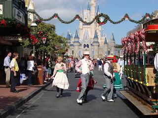 Christmas Main Street Trolley Show Disney World