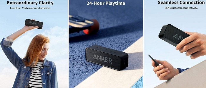 Anker Soundcore - Bluetooth Speaker With Loud Stereo Sound