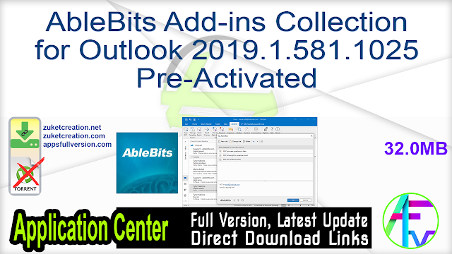 AbleBits Add-ins Collection for Outlook 2019.1.581.1025 Pre-Activated