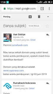 Telat bayar domain di rumahweb