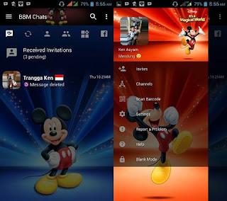 BBM Mod Mickey Mouse v3.2.5.12 Clone Apk 2017
