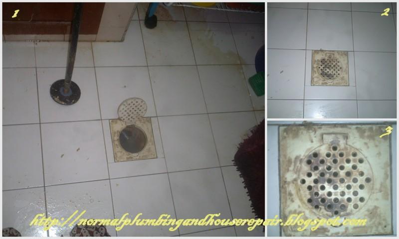Gambar 4 Ini Saya Tunjukkan Lantai Yang Tadinya Dilimpahi Dengan Lelemak Cair Telah Dibersihkan Dan Air Dari Sinki Mengalir Lancarnya Ke