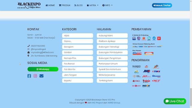 Aplikasi Web Toko Online Professional 6