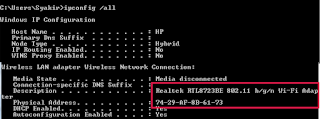 MAC Address Windows