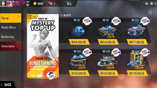 Cara Membuka Event Mystery Top Free Fire Diskon Hingga 80%
