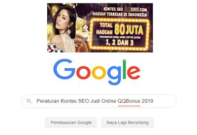 Peraturan Kontes SEO Judi Online QQBonus 2019