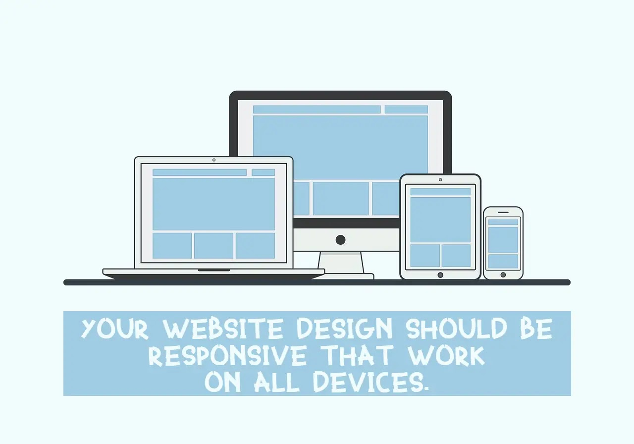 Website design should be responsive that works on all devices
