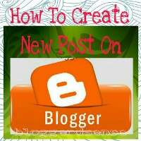 Create new articles on blogger