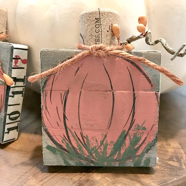 Mixed Media Mini Pallet Pumpkin Art