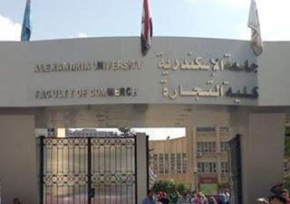 الموقع الرسمى لكلية تجارة جامعة الاسكندرية - نتائج الفرق - اقسام الكلية - نتائج الامتحانات