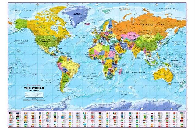 Gambar Peta Negara di Dunia 2019