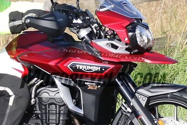 Triumph Tiger Explorer in spyshot