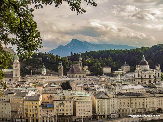 Salzburgo vista do mirante do Kapuzinerberg