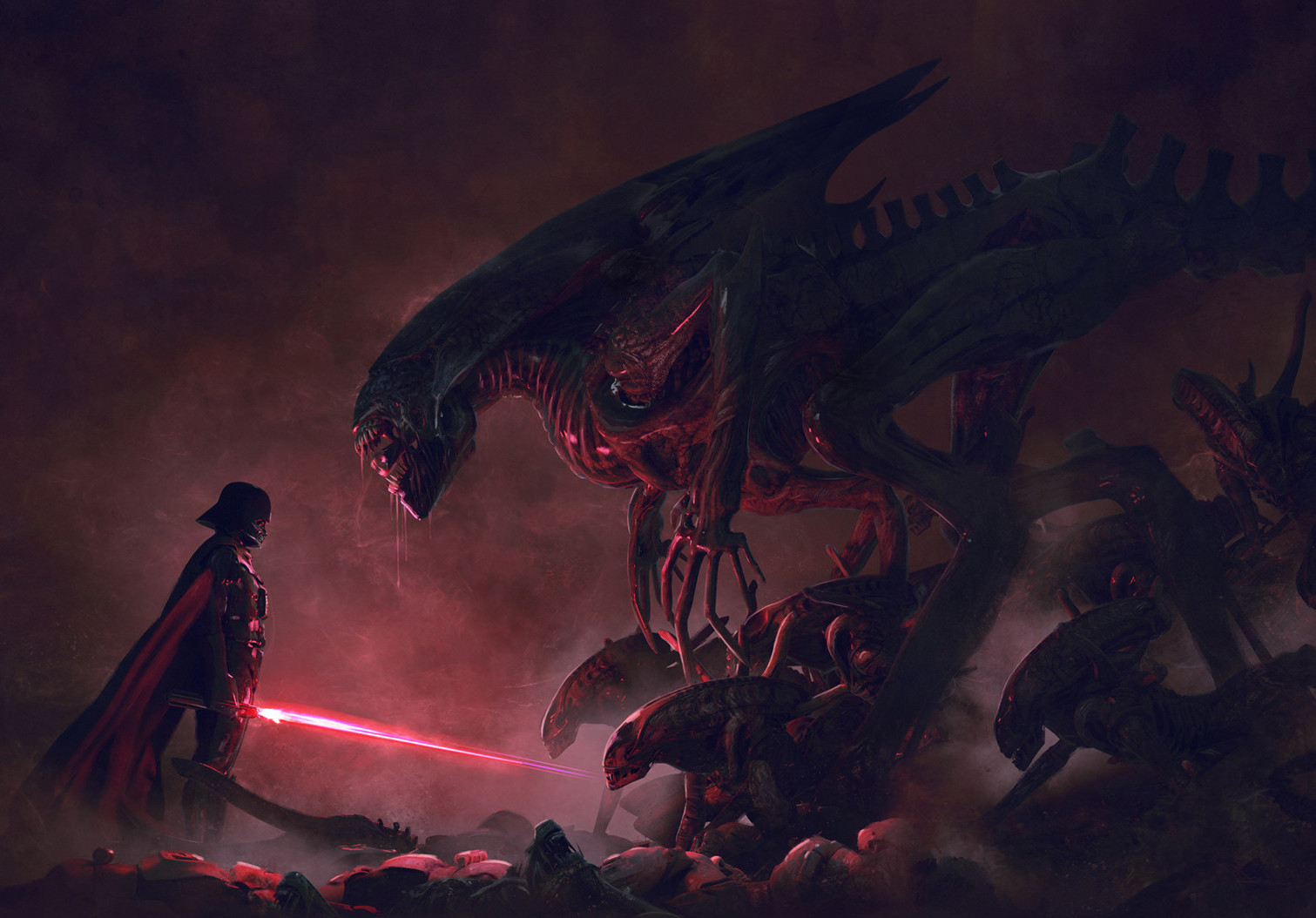 Darth Vader & 501st Legion vs. Aliens