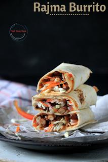 Rajma Burrito / Red Kidney Bean Burrito