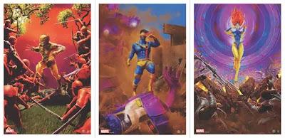 X-Men Character Fine Art Giclee Prints by Chris Skinner x Grey Matter Art - Wolverine, Jean Grey & Cyclops