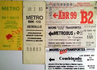 Diversos billetes desde los años 80 hasta la actualidad.