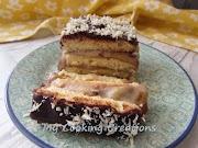 Бананов сладкиш с шоколадова глазура * Matonella con crema di banane e cioccolato