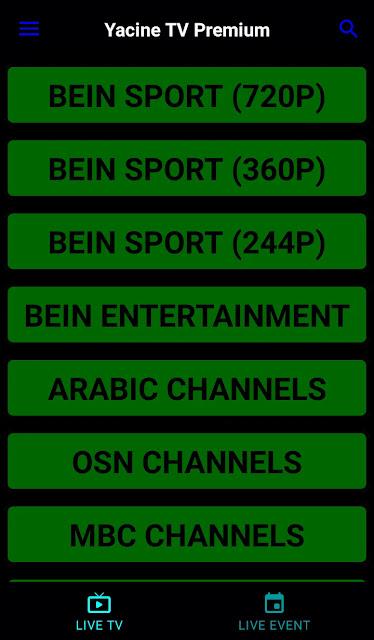 Yacine tv 2021 premium apk