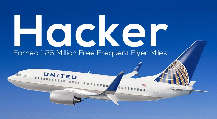 Hacker Earns 1 25 Million Free Frequent Flyer Miles On