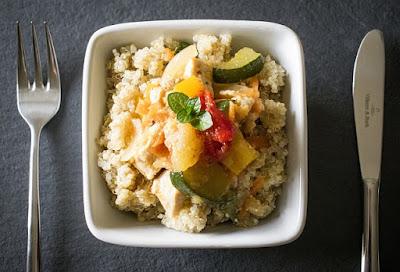 quinoa with chicken broth