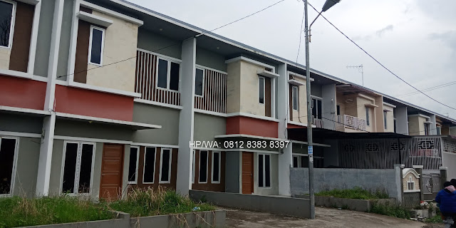 Blok depan Gaperta Harmony rumah murah minimalis 500 Juta 2 lantai lokasi sangat strategis di Jalan Banten Gaperta Ujung Medan