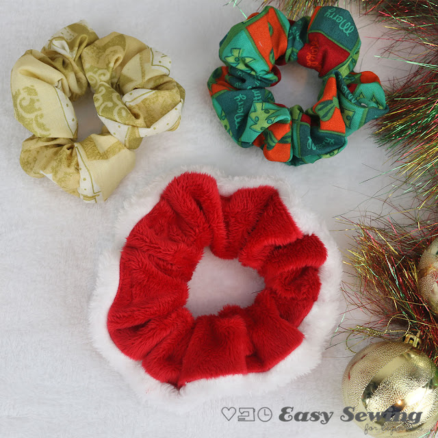 diy christmas scrunchies