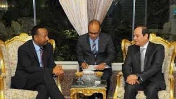 سد النهضة الاثيوبى ، مصر واثيوبيا ، السيسى وأبي أحمد