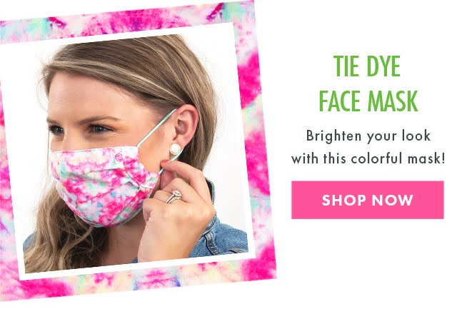 tie dye face mask from marleylilly.com