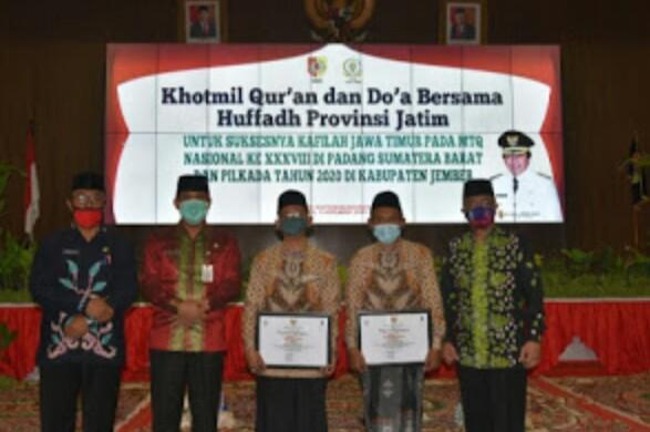 Bangga Dengan Jember, Plt Bupati Kyai Muqit Gelar Doa Bersama Untuk Perwakilan  Kafilah Jawa Timur Dan Untuk Jember Dalam Pilkada  Supaya Lancar